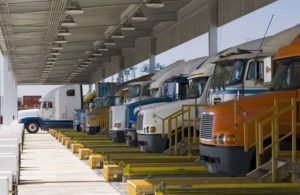 Trucks at the warehouse