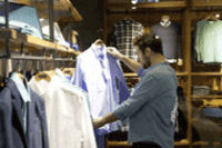 man shopping for a shirt